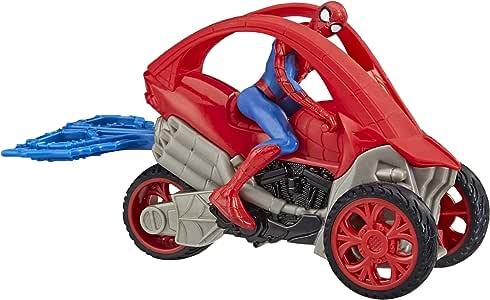 Marvel Spider-Man: Spider-Man Stunt Fahrzeug 15 cm groß,  mit Abnehmbarer Actionfigur, ab 4 Jahren
