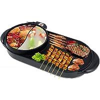 Gril électrique multifonctionnel pot chaud intérieur gril électrique portatif gril Teppanyaki extérieur/pot Shabu Shabu…