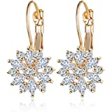 Shining Diva Fashion High Quality 18k Gold Plated AAA Diamonds Stylish Party Wear Earrings For Women & Girls