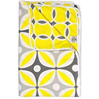 Divine Casa Natty Geometric Microfiber Reversible Single A/C Dohar/Blanket - Yellow and Grey