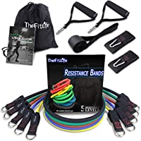 TheFitLife Exercise and Resistance Bands Set - Workout Tubes for Indoor and Outdoor Sports, Fitness, Suspension, Speed…
