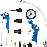 Scheppach 7906100710 Compressor accessoireset, blauw-zwart-zilver goud
