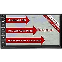 "M.I.C. AU7 Android 10 Autoradio mit navi Qualcomm Snapdragon 665 6G+128G: DSP DAB+ BT 5.0 WLAN 7"" Bildschirm USB sd GPS…"