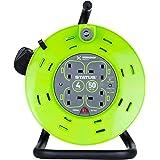 STATUS S50M13ACRX1 kabelhaspel met 4 stopcontacten, 13A, overtemperatuurschakeling, 50 meter, groen