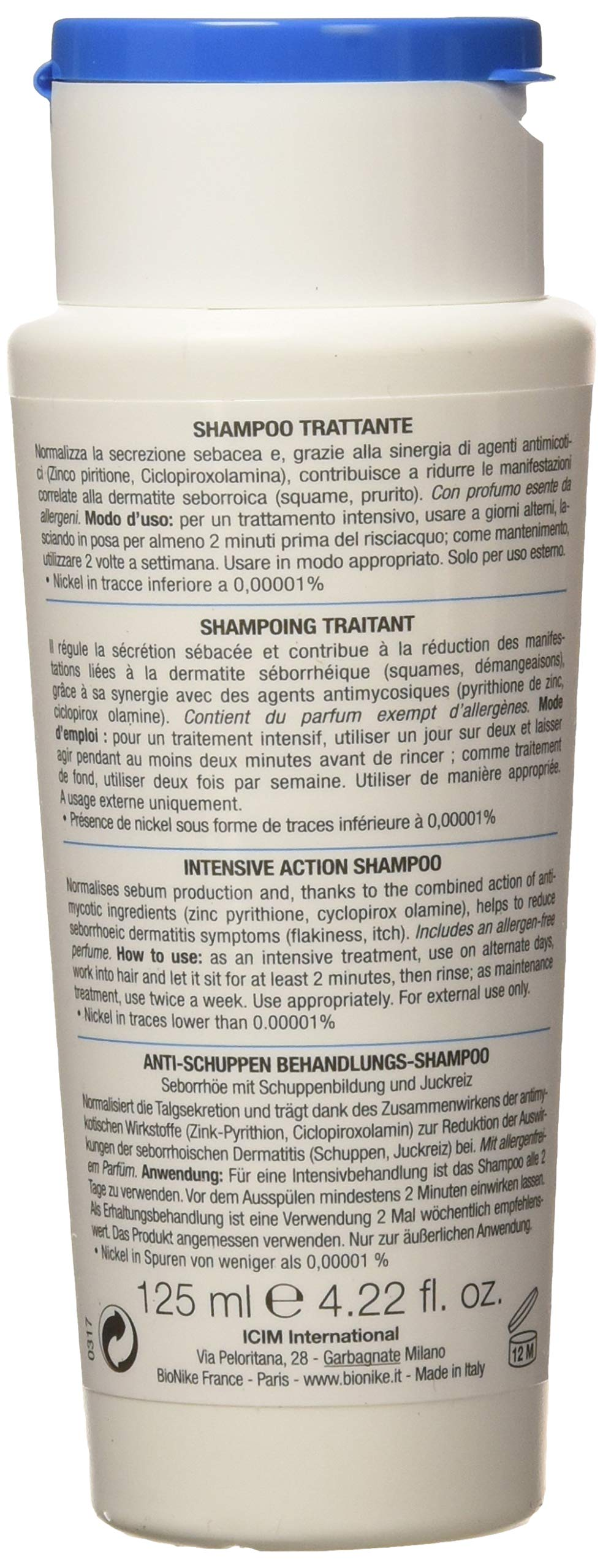 BioNike Defence Hair Antiforfora DS, Champú, 125 ml 2