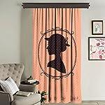 Cipcici Polyester Orange 260 cm x 140 cm Single Curtain Panel
