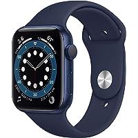 Novità AppleWatch Series6 (GPS, 44mm) Cassa in alluminio azzurro con Cinturino Sport deep navy