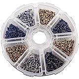 1 * 6mm/1 * 8mm/1 * 10mm Kleine Nagels Houten Schroeven DIY Decoratieve Doos Accessoires Mini Nagels Goud Zilver Brons Boxed