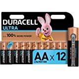 Duracell Ultra, lot de 12 piles alcalines Type AA 1,5 Volts LR6 MX1500