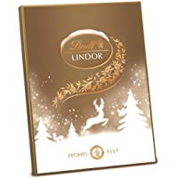 Lindt Lindor Adventskalender Gold, gefüllt mit zartschmelzender Lindor Schokolalde (10 Sorten; darunter Vollmilch…