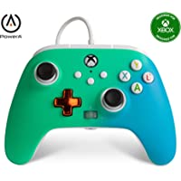 PowerA Enhanced Wired Controller for Xbox – Seafoam Fade, Blue, Teal, Turquoise, Green, Shock, gamepad, wired video game…