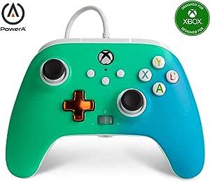 PowerA Controller giochi cablato avanzato per Xbox, gamepad, Xbox Series X S, Verde