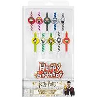 Cinereplicas - Harry Potter - Bougies d'anniversaire (Set de 10 + 1 Happy Birthday) - Licence Officielle - Personnages
