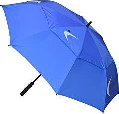 GolfBasic Full EP Coated Automatic Open Double Canopy Golf Umbrella,30-inches(Blue)