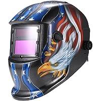 KKmoon Arc Tig Mig Grinding Eagle - Masque de soudure avec assombrissement automatique solaire, noir