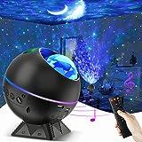 Projecteur Ciel Étoilé, Veilleuse Ciel Etoile, Projecteur Galaxie, Rotative Galaxy Projecteur avec Bluetooth/ Télécommande/ L