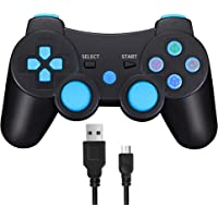 TPFOON PS3 Manette de Jeu Bluetooth sans Fil Joystick Playstation 3 Double Choc, y Compris Le câble de Charge