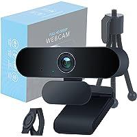 EVOCUS Webcam Pc con Microfono, Web Camera per Pc 1080p Full Hd con Treppiede per Telecamera Pc e Copri Webcam Gaming…