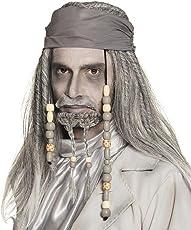 Boland 86196 Perücke Geister Pirat Deluxe, grau