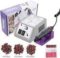 Cadrim Manucure Machine Ongles Machine à Manucure Machine à Poncer Ponceuse Électrique pédicure avec 6 embouts ponçage...
