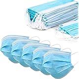 200 Masken 3-lagig Einweg Maske Mund/Nasenbedeckung Behelfsmaske Mundbedeckung Hygiene Blau