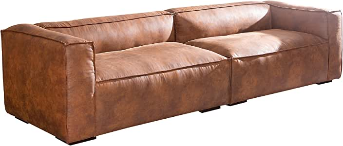 Stylisches Sofa GAUCHO braun 300 cm Used Look Couch Big