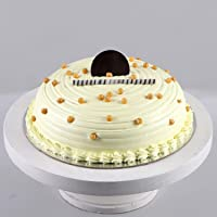 Ferns 'N' Petals Heavenly Butterscotch Cream Cake- Half Kg Eggless  Birthday Cake  Anniversary Cake Next Day Delivery