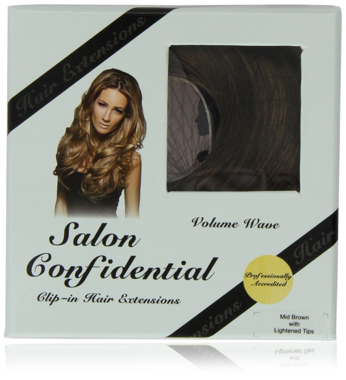 Salon confidential volume wave clip in hair extensions red blonde salon confidential volume wave clip in hair extensions red blonde amazon beauty pmusecretfo Image collections