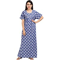 NIGHTY HOUSE Ladies Pure Cotton Nighty Gown (L - 4X)