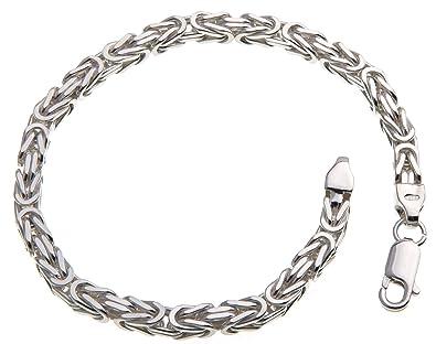 Armband silber  Massives 4,5mm breites Königskette Armband - 925 Sterling Silber ...