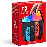Console Nintendo Switch (Modèle OLED) avec Manettes Joy-Con Bleu Néon/Rouge Néon