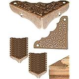 FUXXER® - 20x antieke meubelhoeken, beslag, hoekbeschermer, randbescherming voor kisten boxen meubels plank tafel, vintage me