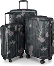 SUITLINE - Handgepäck Hartschalen-Koffer Trolley Rollkoffer Reisekoffer Koffer-Set, 4 Rollen, TSA (S, M & L)