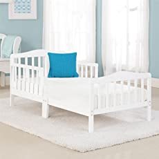 Big Oshi Contemporary Design Toddler Bed (White, CRB-422)