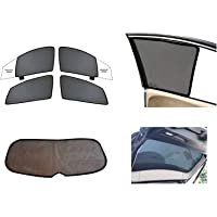 Hi Art ComboSR110 Side and Rear Window Sun Shades Compatible with Maruti Suzuki SX4 - Set of 5
