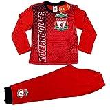 Liverpool FC Sublimation Print Junior Kids Football Soccer Pyjamas Red