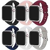 Correa Apple Watch, Correa Compatible con Apple Watch 44 mm 38 mm 42 mm 40 mm, Correa de Repuesto Deportiva de Silicona Suave