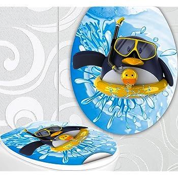 wc sitz aufkleber pinguin mit rettungsring design folie dekor f r toilettendeckel klodeckel. Black Bedroom Furniture Sets. Home Design Ideas