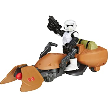 Playskool B2035AS00-Star Wars Galactic Heroes SCOUT TROOPER FIGURE y..