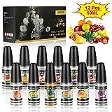 E Liquids für E-Zigarette, 12 x 10ml E Liquids ohne Nikotin, E-Juice Nikotinfrei, E-Zigaretten Liquid Set, 0,0mg Nikotin VG50%/PG50%