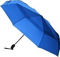 AmazonBasics Automatic Open Travel Umbrella with Wind Vent - Royal Blue