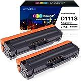 GPC Image 2 Pack Compatible for Samsung MLT-D111S/ELS D111S Toner Cartridges Black for Samsung Xpress SL-M2026 SL-M2026W SL-M2070 SL-M2070FW SL-M2070W SL-M2020 SL-M2020W SL-M2022 SL-M2022W SL-M2078W