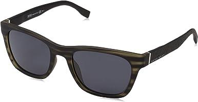 Hugo Boss Men's BOSS 0830/S IR 2Q5 53 Sunglasses, Greyhornblck/Grey