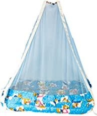 Baybee Hanging Swing Cradle- New Born Baby Swing Cradle with Spring (Blue)