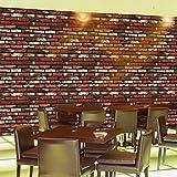 Univocean Vinyl PVC Abstract Wallpaper, 200 x 45 cm, Red