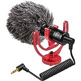 YOTTO Microfono per videocamera cardioide universale Professionale Microfono per iPhone smartphone Mac tablet videocamera Can