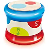 Hape E0333 Baby Drum | Colorful Rolling Drum Musical Instrument Toy For Toddlers, Rhythm & Sound Learning, Battery Powered