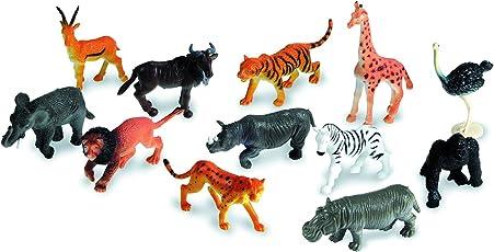 Vibgyor Vibes Wild Animals Figures Set for Kids - Medium (Pack of 12)
