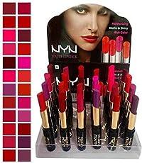 NYN Matte Waterproof Lipsticks (Pack of 24)
