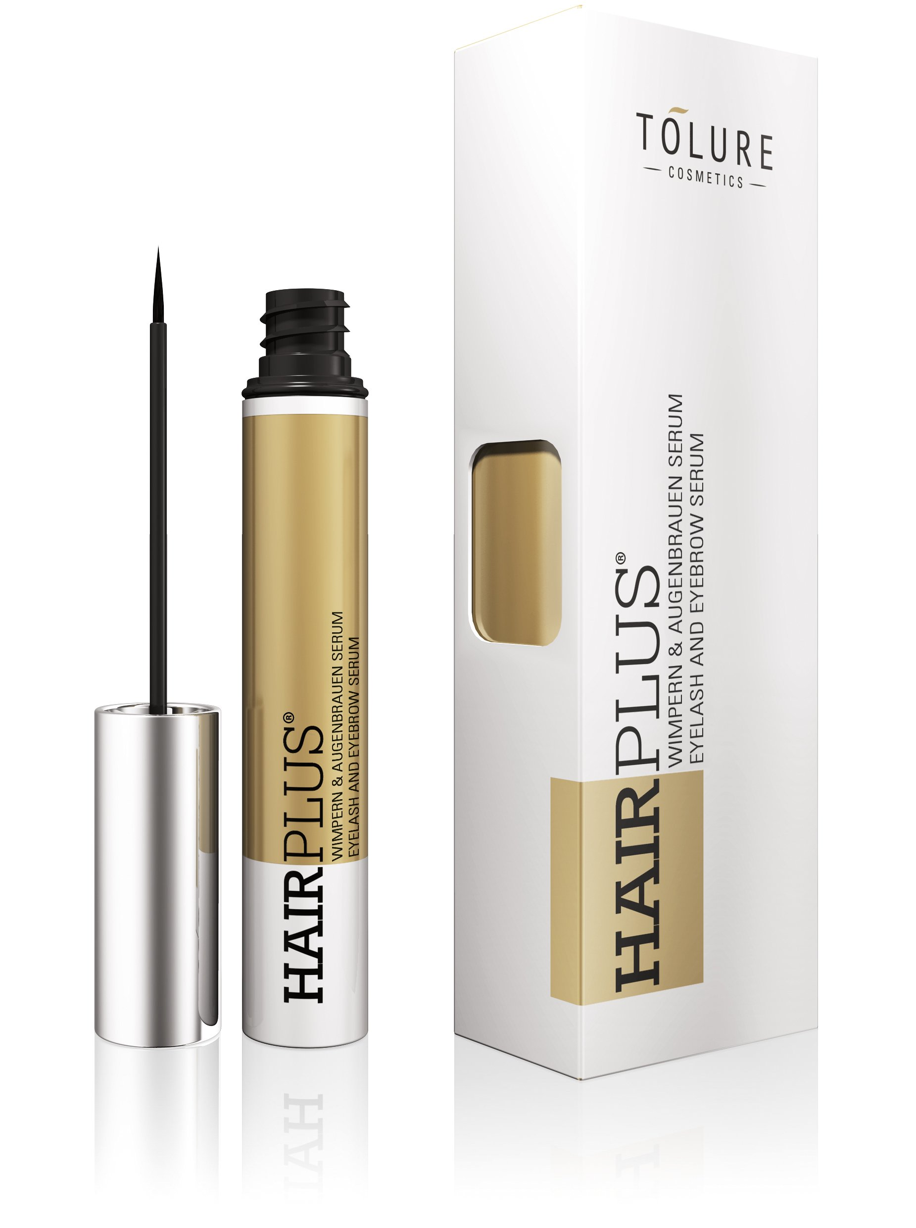 Tolure Cosmetics Hairplus Suero de 2-in-1 para las Pestañas y las Cejas – 3 ml